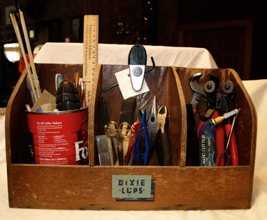 box of tile tools © mara lee