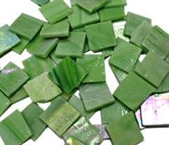 iridescent green tile