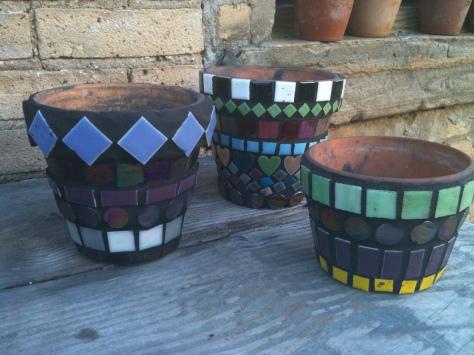 mosaic tile pots