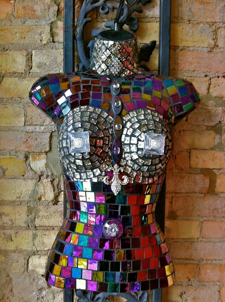 mosaic tile woman