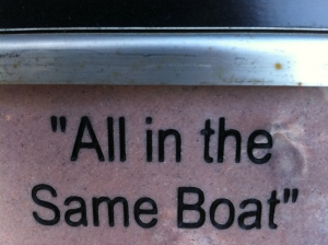 All in the same boat.