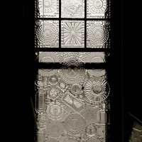 Vintage window with Glass on Glass mosaic.