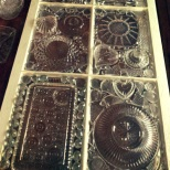 Vintage Window glass-mosaic