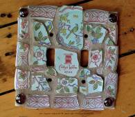 Clayx Vintage China Mosaic Tile Switchplate Cover