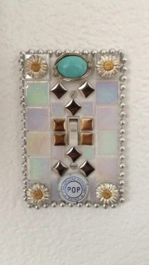 Diy Mosaic Tile Light Switch Covers Shot Gathered And Glued