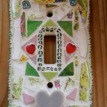 Shabby Chic Mosaic Tile Light Switch Cover