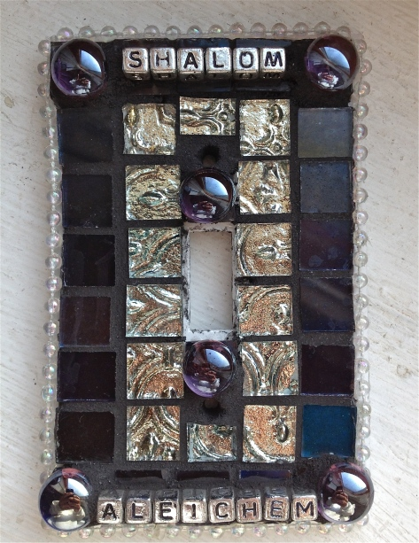 Shalom Mosaic Tile Light Switch Cover