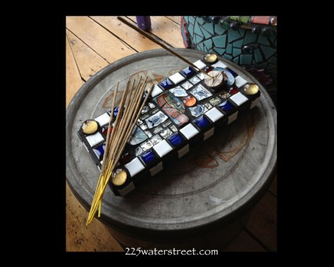 Mackinac Island Mosaic Tile Incense Holder