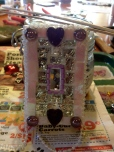Pink and Purple Mosaic Tile Lightswitch Cover