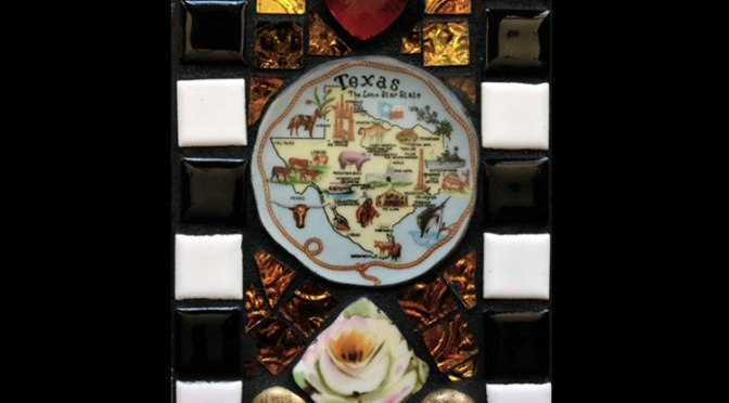 Yellow Rose of Texas Mosaic Tile Incense Holder