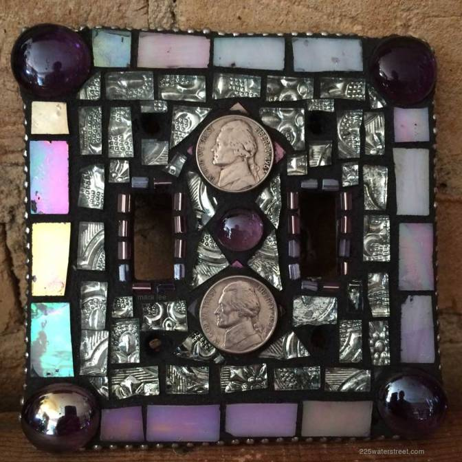 DIY Mosaic Tile Light Switch Covers