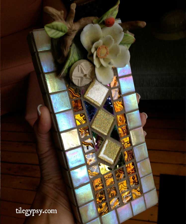Golden Girl Mosaic Tile Incense Holder