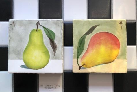 pears-tile-coasters-italian