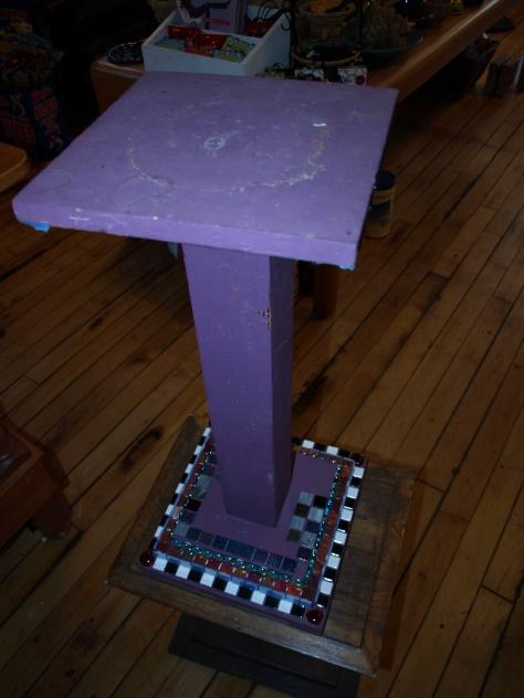 Mosaic Tile Pedestal