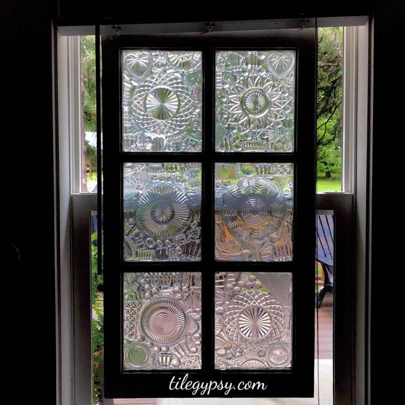 Glass on Glass Vintage Window Art