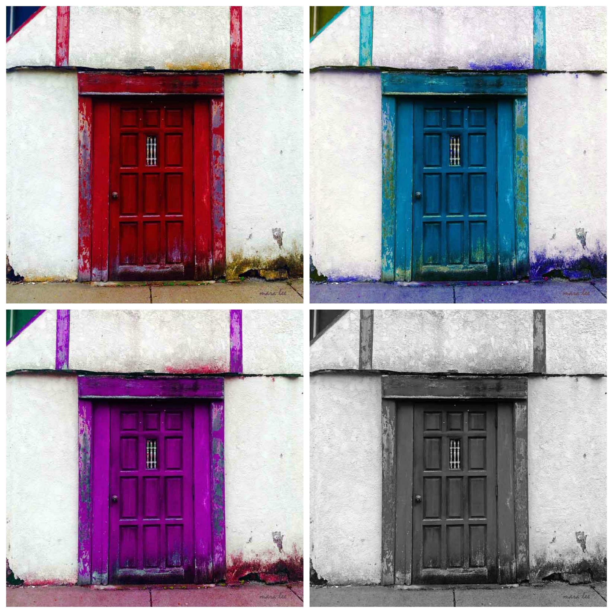 door-collage