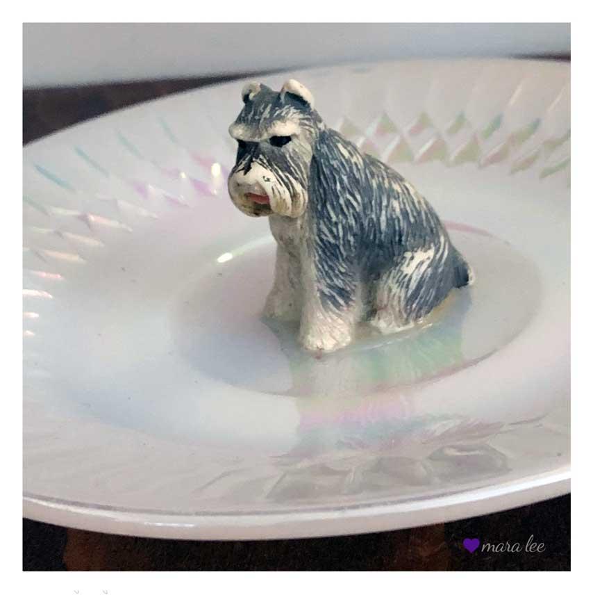 Schnauzer ring dish © mara lee
